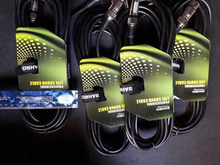 Cable Siliconado Jahro 7mm Plug 6.5 Mono A Canon Hembra 6mts