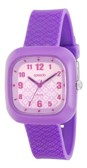Relógio Feminino Speedo 80561l0ebnp2 37mm Silicone Lilás