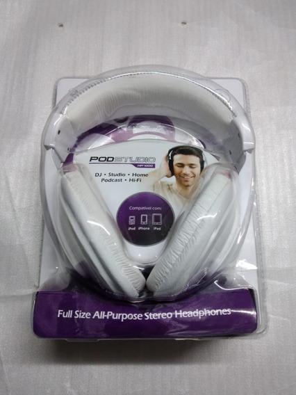 Fone De Ouvido Waldman Hp1000 Wh Headphone Branco