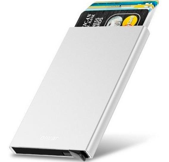 Tarjetero Billetera Metalico Para Evitar Lectores Rfid Porta Tarjetas Seguridad