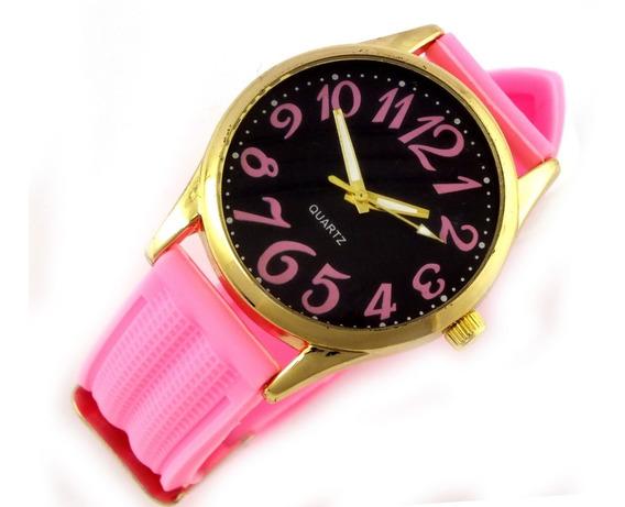 Relógio Feminino De Pulso Quartz Com Pulseira Borracha B5629