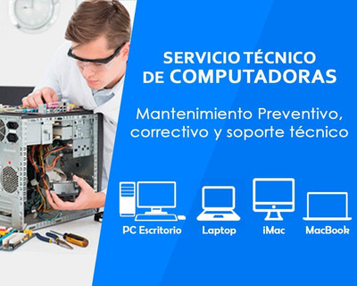 Servicio Técnico Notebooks Pc Reparación Instalación Windows