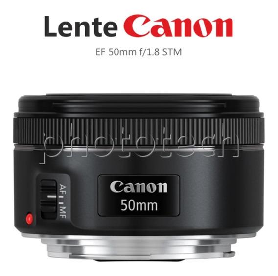 Lente Canon Ef 50mm F/1.8 Stm Original Com Nf