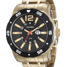 Relógio Mondaine Masculino 94851gpmvda1 Dourado + Nfe