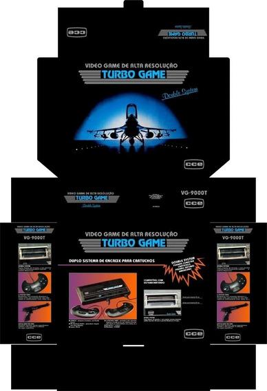 Arte !! Caixa Turbo Game Cce (cdr Pdf Jpeg)
