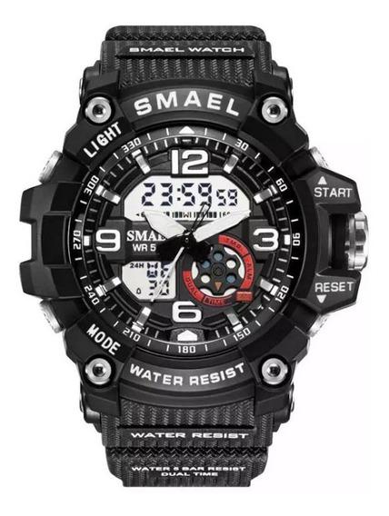 Relógio Smael 1808 Digital Analógico Unisex C/ Caixa