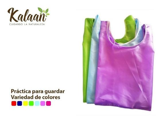 Bolsas Reusables Tipo Camiseta, Impermeable Y Lavable