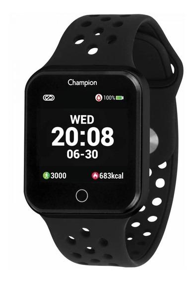 Smartwatch Champion Ch50006p Preto Pulseira Preta