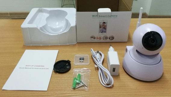Câmera De Segurança Interna Besder Wi-fi Com Microfone