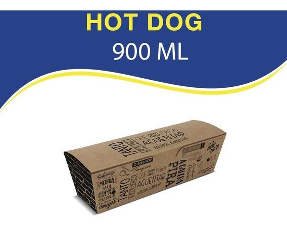 Embalagem Hot Dog E Baquete Para Viagem - 100 Unidades D9k
