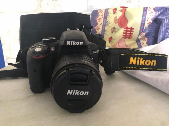 Câmera Nikon D3300 Af-p 18-55 Vr Kit + Cartão 64gb