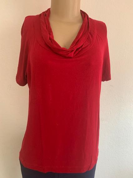 Camiseta Vermelha Com Gola - Fillity - Tam P