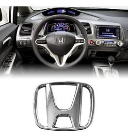 Emblema Do Volante Cromado Honda New Civic, City E Fit