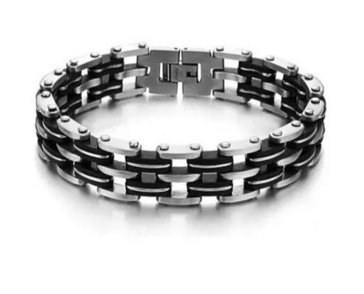 Pulseira Bracelete Masculino Fio De Aço Festas Luxo