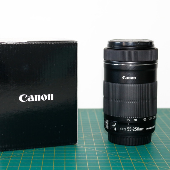 Lente Canon Efs 55-250mm Macro 0.85/2.8ft - Seminova