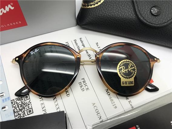 Oculos De Sol Ray Ban Round Fleck Rb2447 Havanna Tartaruga