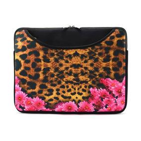 Case Para Notebook 14.1 Jaguar Floral, Com Bolso - Reliza