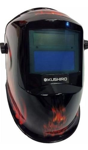 Mascara Fotosensible Kushiro Ploteada Fire Careta Soldar