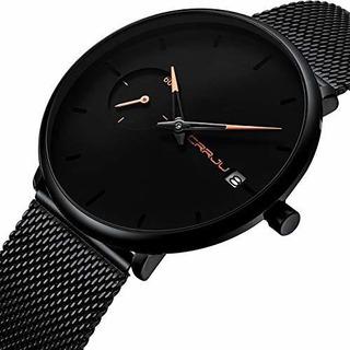 Crrju 2258 Reloj De Pulsera Unisex De Cuarzo Con Correa De M