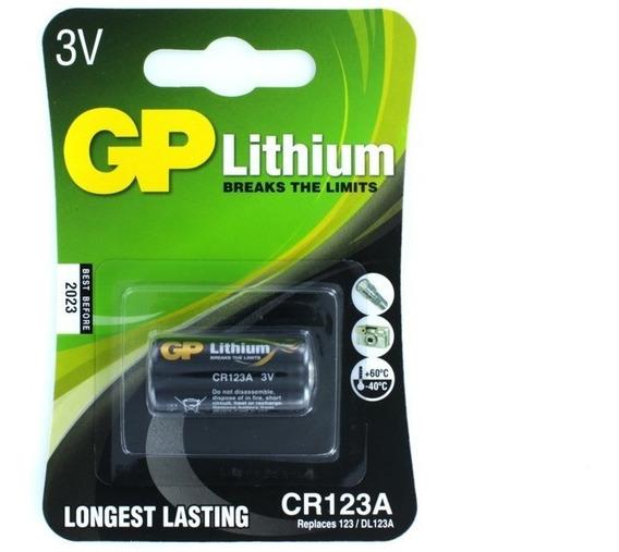 Bateria Pilha 3v Cr123a Lithium Longest Lasting - Lacrado Gp