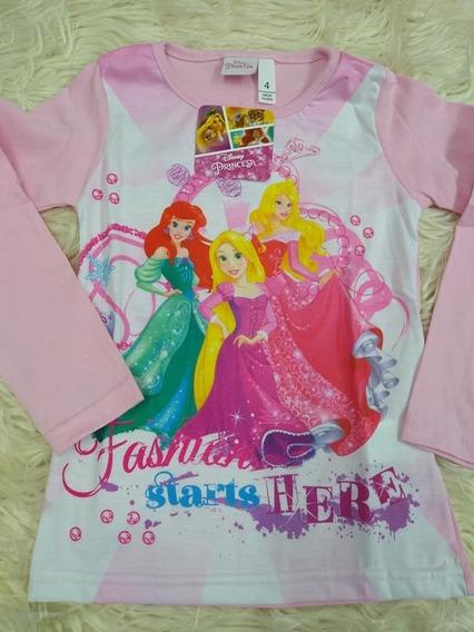 Remera Manga Larga Princesas Disney Oficial Niña Ariel