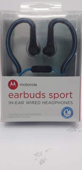 Fone De Ouvido Motorola Earbuds Sport Com Microfone Original