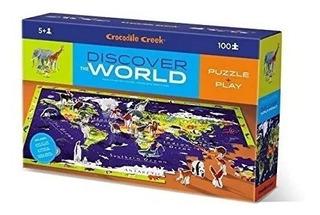 Puzzle 100 Pcs Discover The World Gigante Planisferio Full