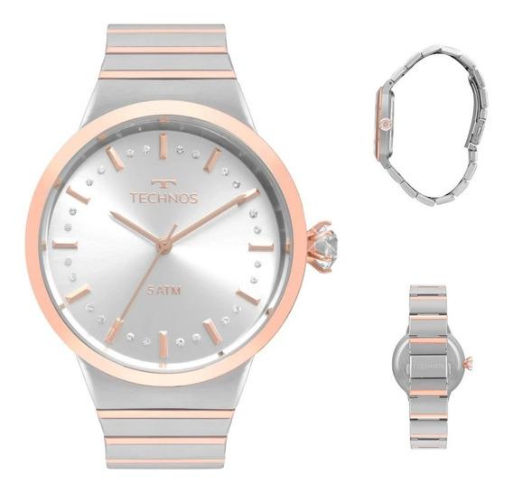 Relógio Technos Feminino Elegance Crystal 2036mjv/5k C/nota