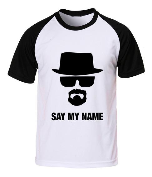Camiseta Raglan Breaking Bad Say My Name Walter White C