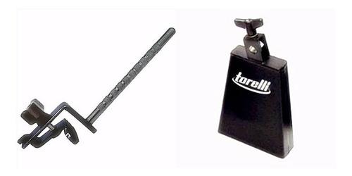 Cowbell 8 Polegadas + Clamp Para Fixar No Bumbo Torelli