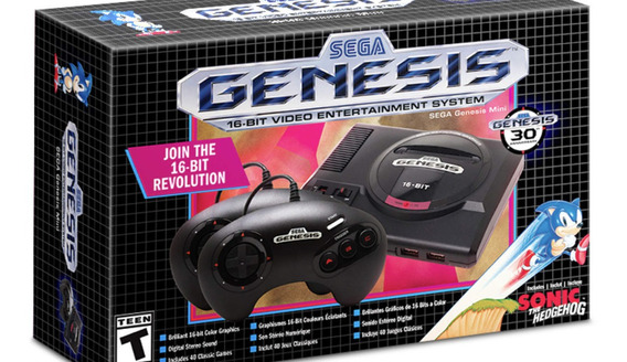 Mega Drive Mini Americano Com 2 Controles (genesis Mini)