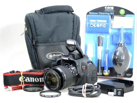 Canon T5i +18-55mm +cartão 16gb +bolsa +kit Limpeza 340cliqu