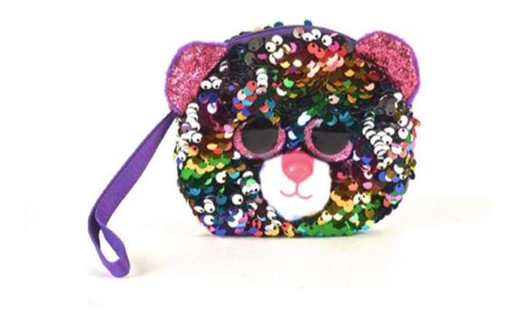 Monedero Ty Animales Lentejuelas Gato Multicolor 11 Cm