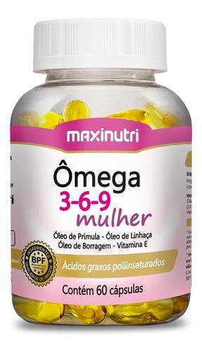 Ômega 3-6-9 Mulher Com 60 Cápsulas - Maxinutri