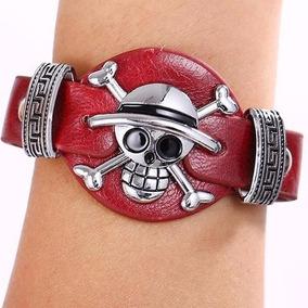 One Piece Pulseira Com Bracelete Original Couro Legítimo