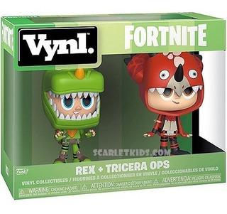 Funko Fortnite Rex + Tricera Ops Original Vynl Scarlet Kids
