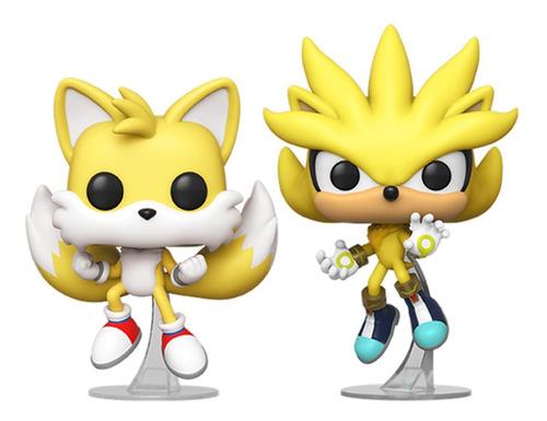 Boneco Funko Pop Sonic Super Tails & Super Silver Sdcc 2020