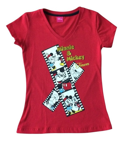 Playera Minnie Mouse Para Niñas Oficial