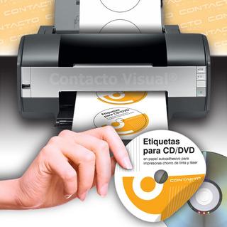 Etiquetas De Cd / Dvd En Hojas A4 Para Impresoras (100 Hojas)
