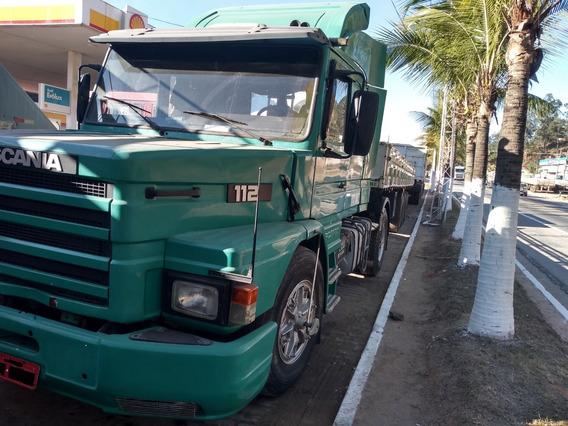 Scania T 112 Hs 1988 + Carreta Krone 3 Em 1 1997