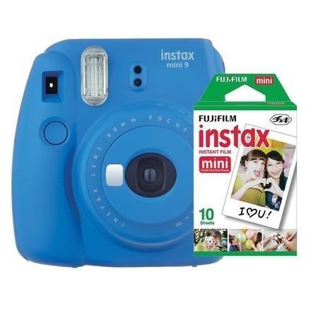 Fujifilm Instax Mini 9 - Foto Instantânea - Azul Cobalto + P