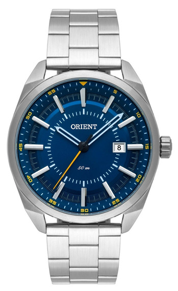Relógio Orient Masculino Mbss1346 D1sx Azul Aço Analogico