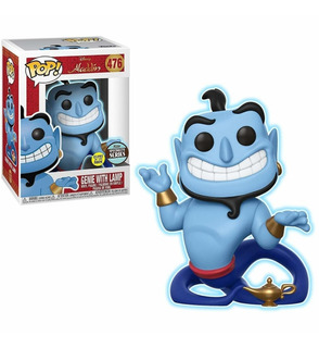 Funko Pop Specialty Series Genie W/ Lamp (glow In The Dark)