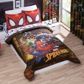 Edredon Microfibra Ligero Spiderman Cama Matrimonial Concord