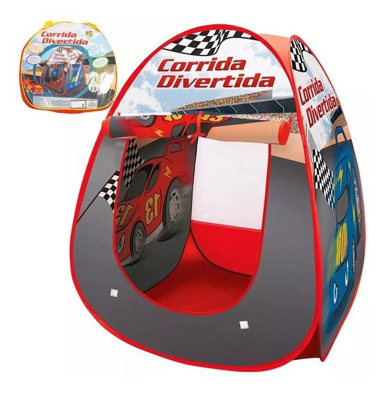 Toca Barraca Brinquedo Menino Carro Portátil 91 Cm + Bolsa