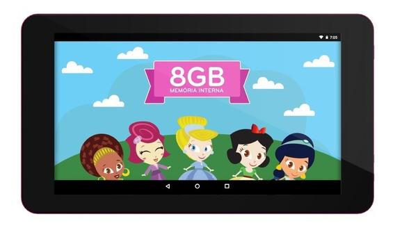 Tablet Infantil Princesinha Ht705 Android 7. 8gb Wi-fi +capa