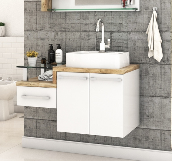 Gabinete Armário P/banheiro (balcão C/cuba Rt41) Legno 830