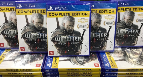 The Witcher 3 Complete Edition Ps4 Mídia Física Cd Lacrado