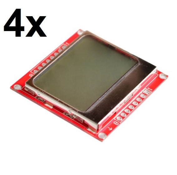 4x Display Lcd Nokia 5110 Para Arduino E Outros!!!