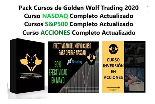 Paquete Cursos De Golden Wolf Trading Actualizados